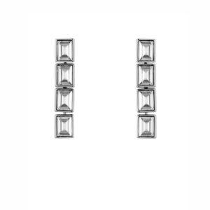 Atelier Swarovski Silver Shade Fluid Drop Earrings