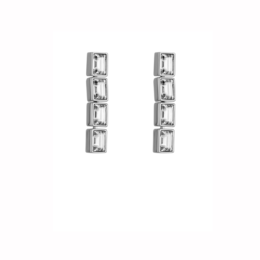 1ed37678b Silver Shade Fluid Drop Earrings - i-D Concept Stores
