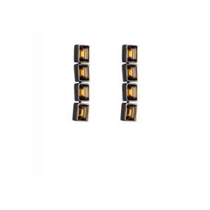 Atelier Swarovski Smoky Quartz Fluid Drop Earrings