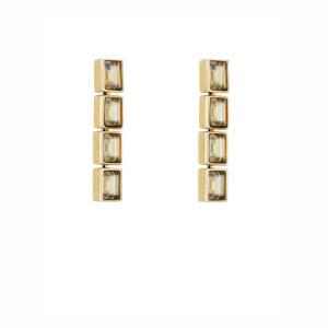 Atelier Swarovski Golden Shadow Fluid Drop Earrings