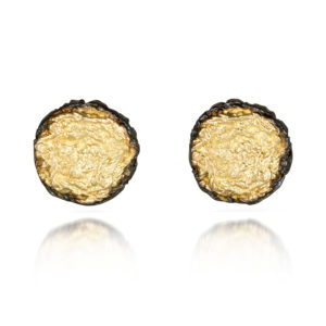 Alexandra Jacoumis Pin Studs with Black Borders Front