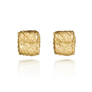 Alexandra Jacoumis Square Straight Stitch Studs Front
