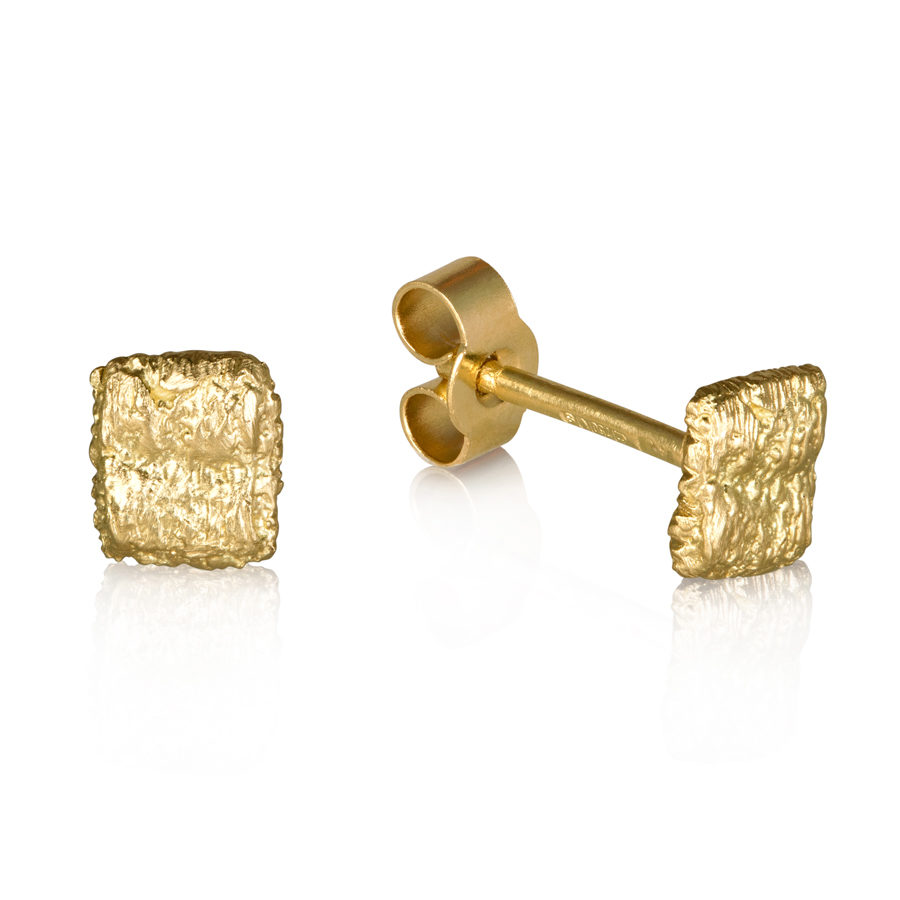 Alexandra Jacoumis Square Straight Stitch Studs Side