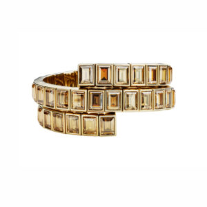 Atelier Swarovski Golden Shadow Fluid Wrap Bracelet