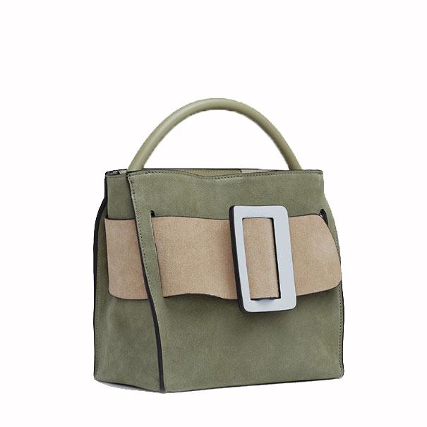 BOYY Devon 21 Suede Sage Handbag