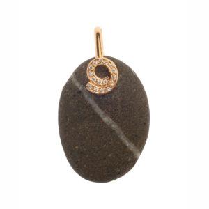 Dolly Boucoyannis Gold Pebble Diamond Pendant DBP 82