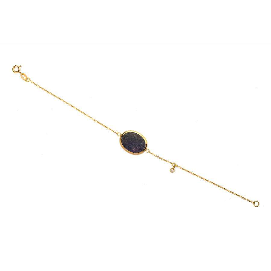 Dolly Boucoyannis Pebble and Diamond Chain Bracelet DBB49