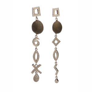 Dolly Boucoyannis White Gold and Diamonds Earrings DBE31