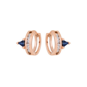 Ioanna Souflia Blueprints Rose Gold Earrings ISBL6E