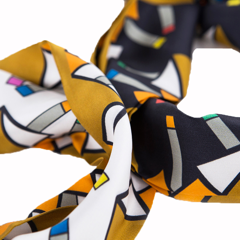Kooreloo Athena Black and White Silk Scarf