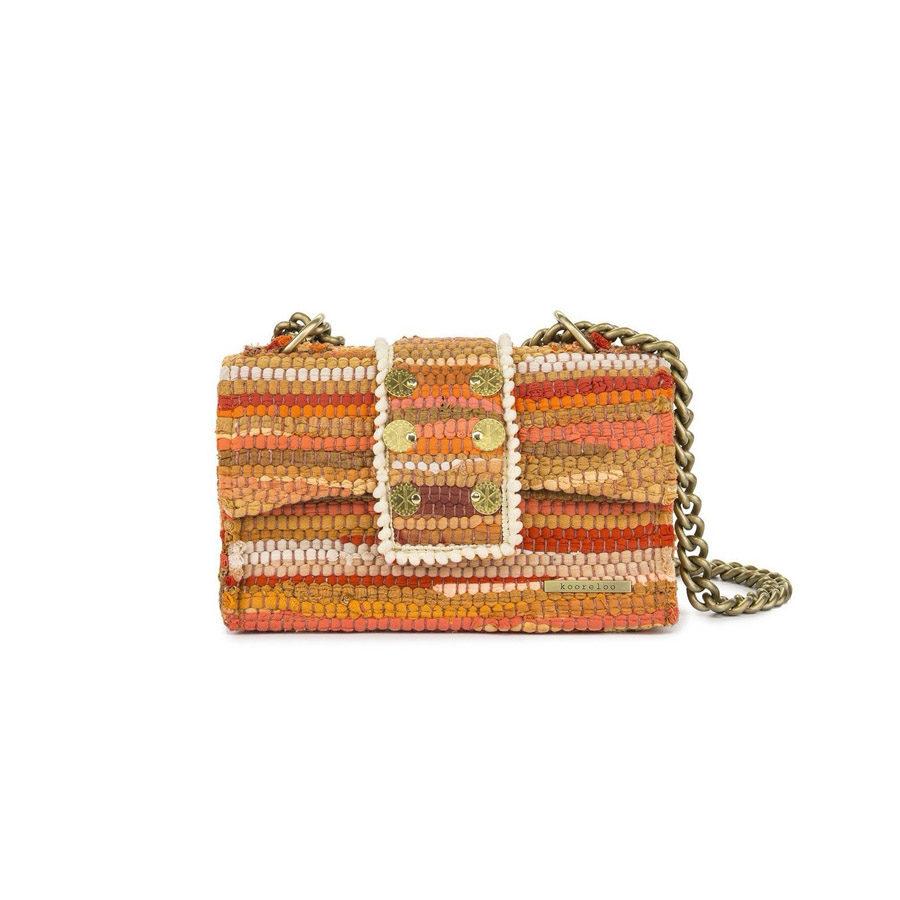 Kooreloo Kooreloo New Yorker Soho Fabric Orange Shoulder Bag