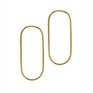 Maggoosh Medium yellow gold halo earrings