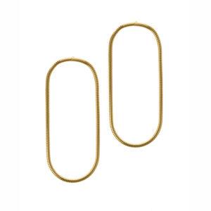 Maggoosh Medium yellow gold halo earrings