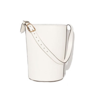 Trademark Bucket Shoulder White Bag
