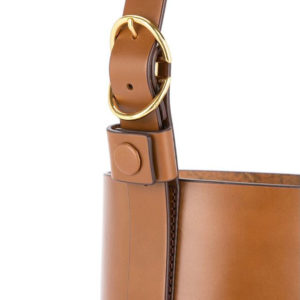 Trademark Small Classic Bucket Bag Saddle
