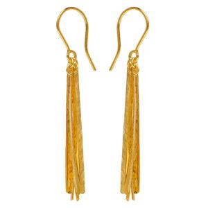 Christiana Kafa Gold Plated Sterling Silver Earrings