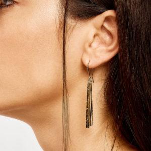 Christiana Kafa Gold Plated Sterling Silver Earrings on model