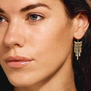 Christiana Kafa Gold plated Sterling Silver Earrings on model
