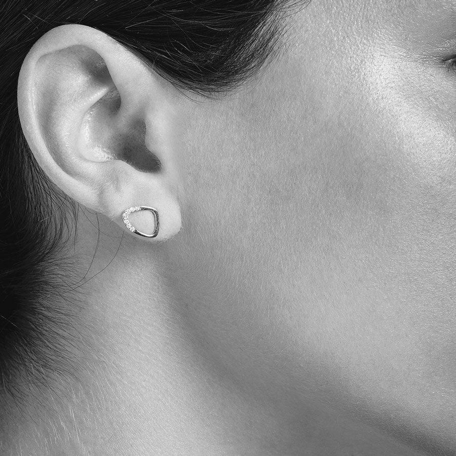 Christiana Kafa Eye Shaped Earrings on model