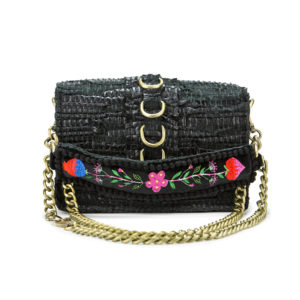 Kooreloo RockStar Black Leather Shoulder Bag