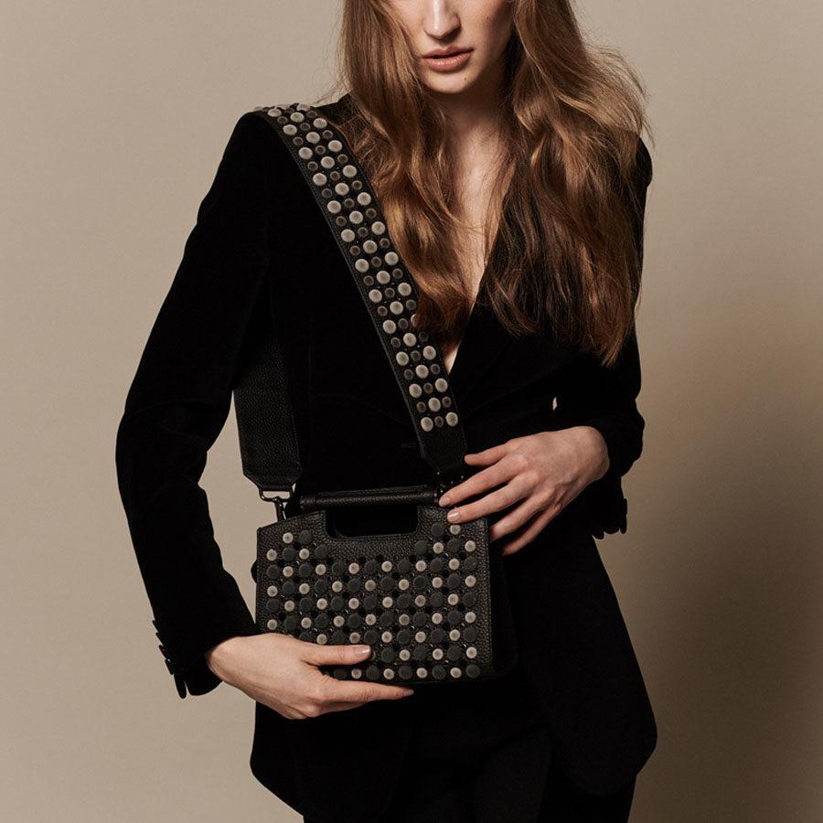Marina Raphael Black Lara Strap on Midnight bag 6