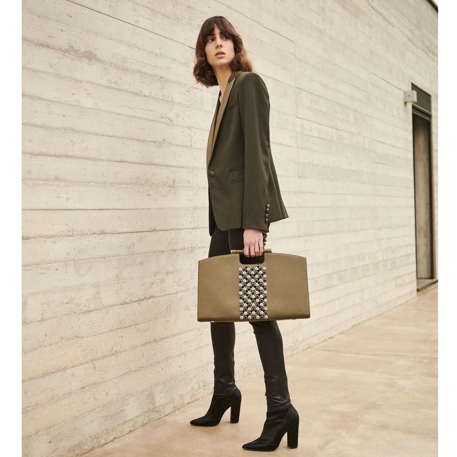 Marina Rafael Bureau Bag on model