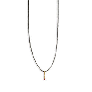 Christiana Kafa Single Precious Stone Necklace
