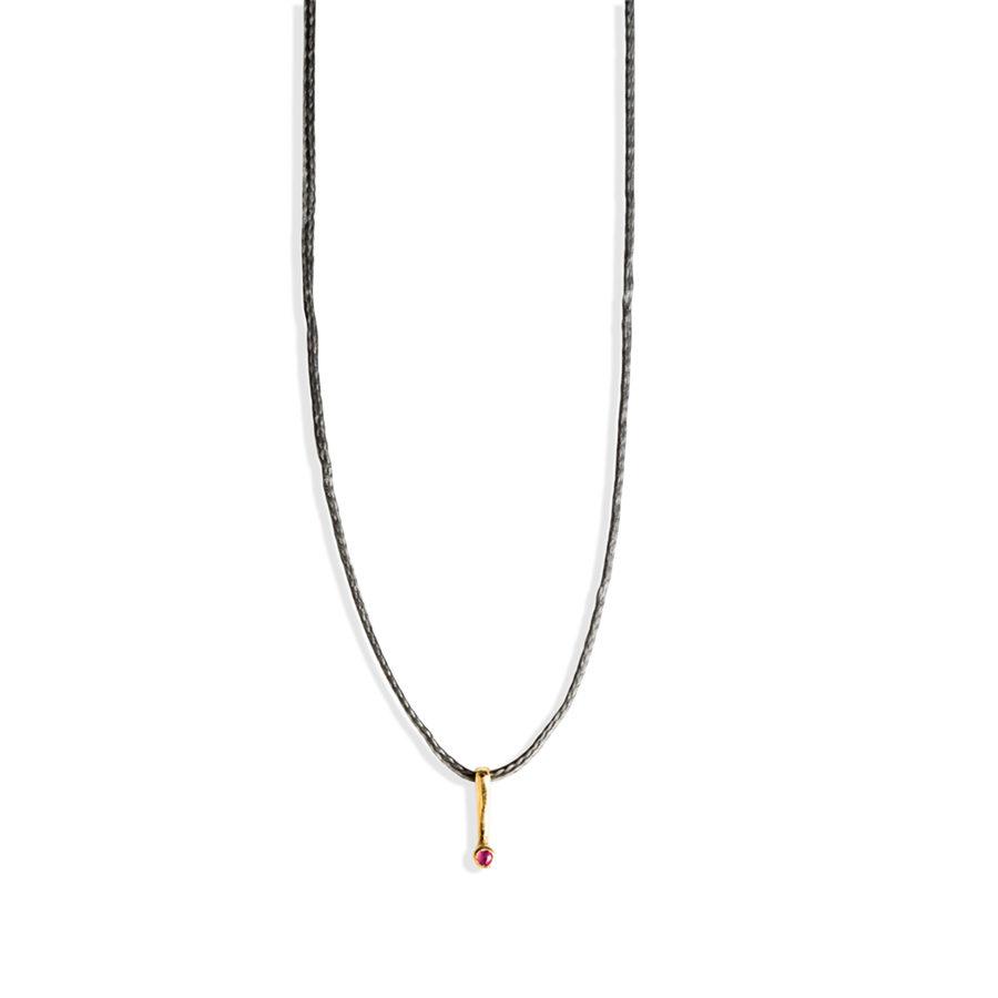 Christiana Kafa Single Precious Stone Necklace