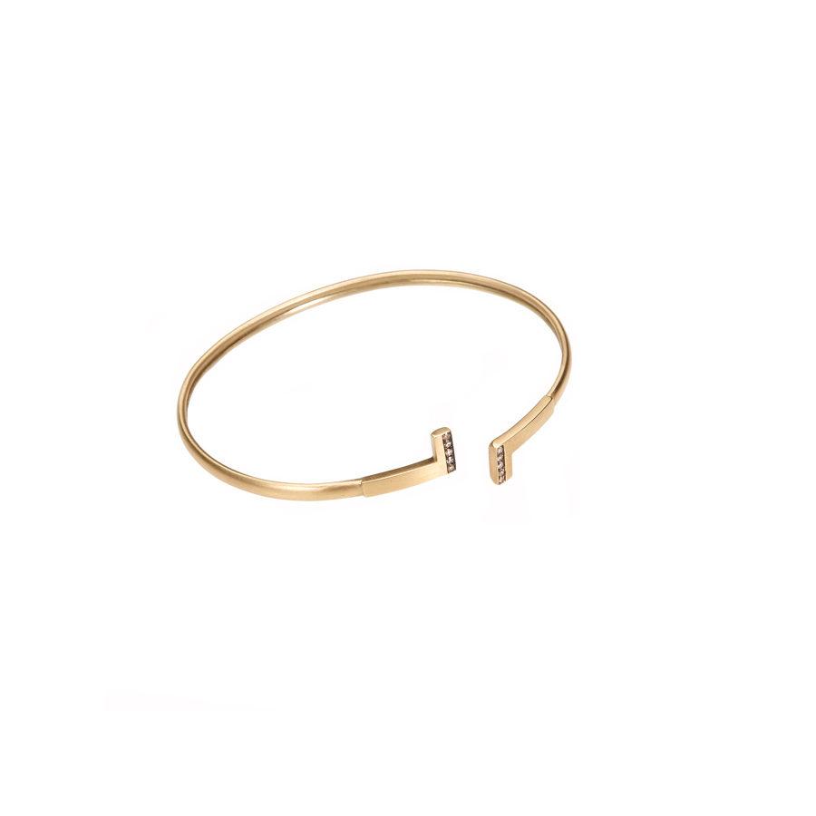 Polina Ellis Antithesis Gold Wire Bracelet PSantFth2G14DV