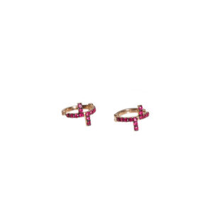 Antithesis Rubies and Gold Earrings