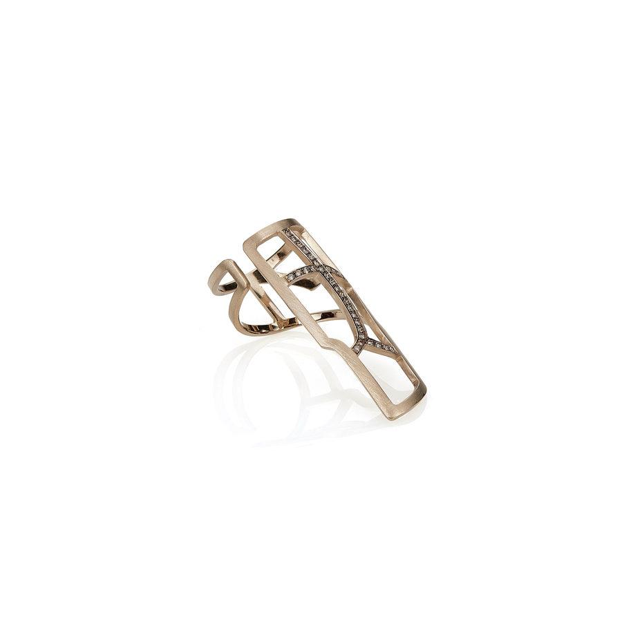 Polina Ellis Left Finger Tethrippon Gold Ring