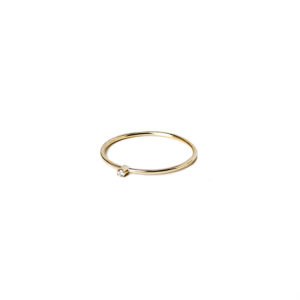 Christiana Kafa White Diamond Thin Ring