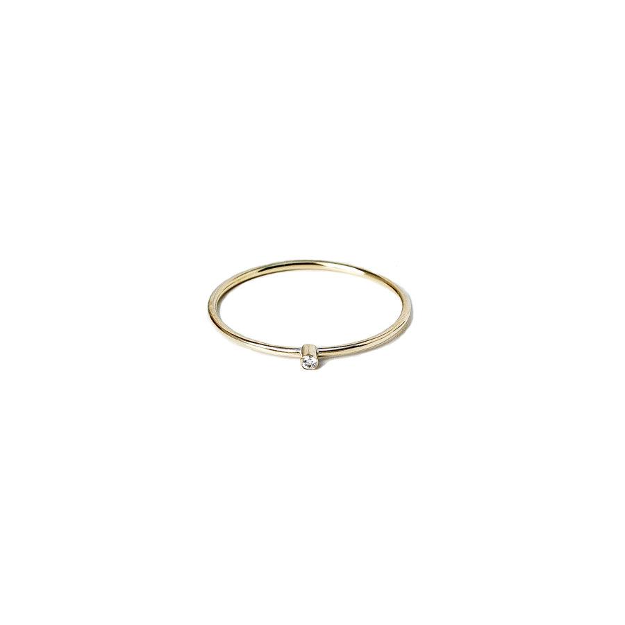 Christiana Kafa White Diamond Thin Ring
