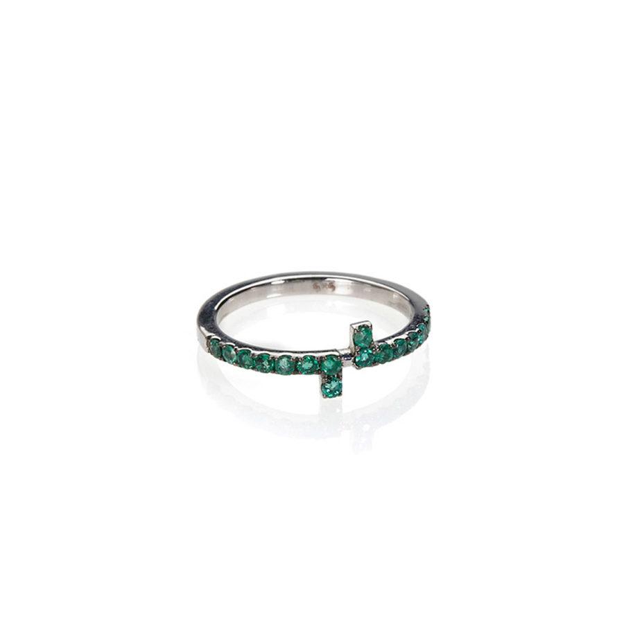 Polina Ellis Antithesis Emeralds Ring