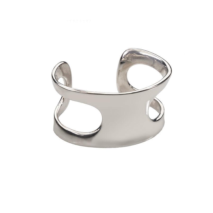 Polina Ellis Dorian Silver Cuff Bracelet