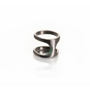 Polina Ellis Dorian Silver Black Rhodium Ring