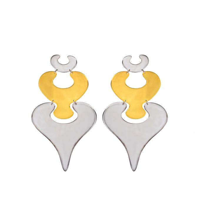MYSTiS by Sofia Zarari Embryo Eve and Adam Drop Statement Earrings