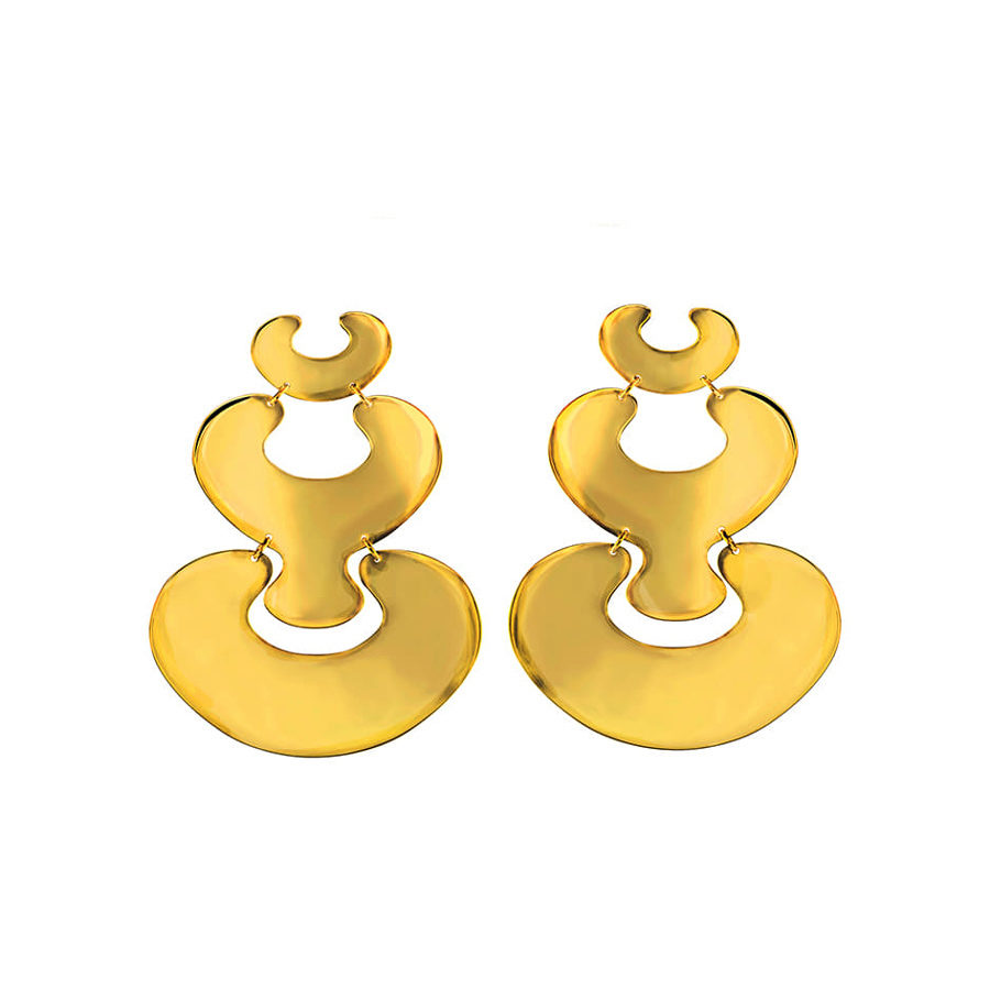 MYSTiS by Sofia Zarari Genesis Eve and Embryo Drop Statement Earrings