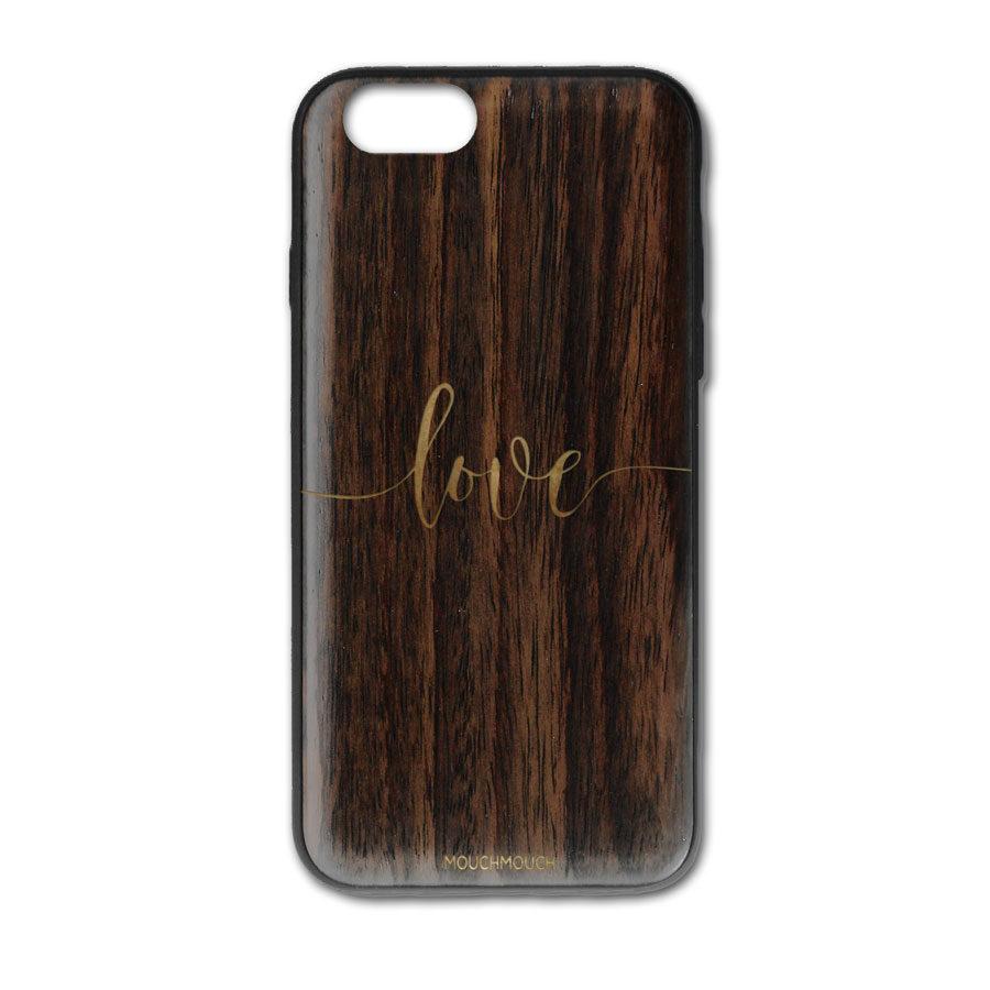 Mouch Mouch Love iPhone 7 Plus Gold Paint Case
