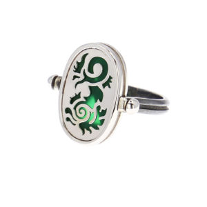 Elie Top 4 Elements Eau White Gold Agate Verte Ring