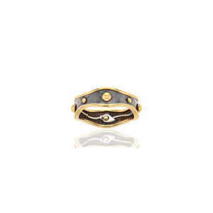 Elie Top Yellow Gold Bandeau Ring