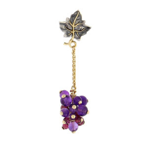 Elie Top Automne Raisin Yellow Gold Amethyste Long Ring