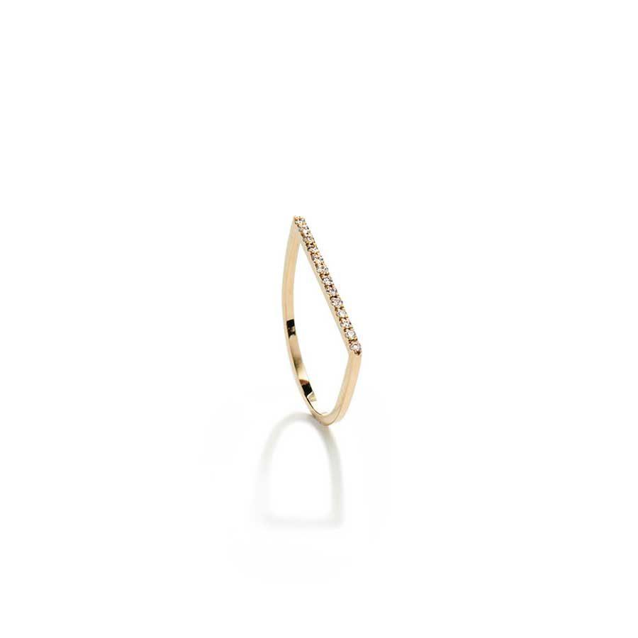 Christina Kafa Half Circle White Diamonds Ring CHK06.R.GW