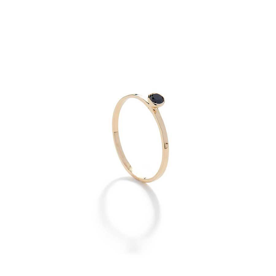 Christiana Kafa Black Diamond Thin Ring CHK10.R.GB