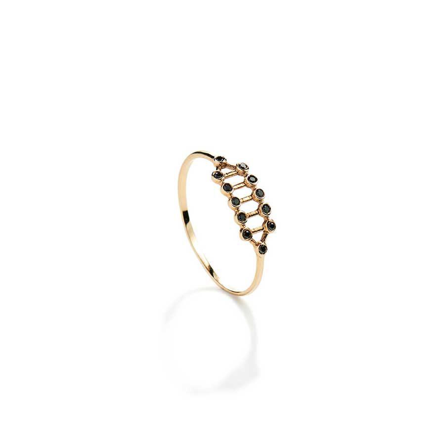 Christiana Kafa Gold and Diamonds Half-Fledged Ring CHK18.R.GB