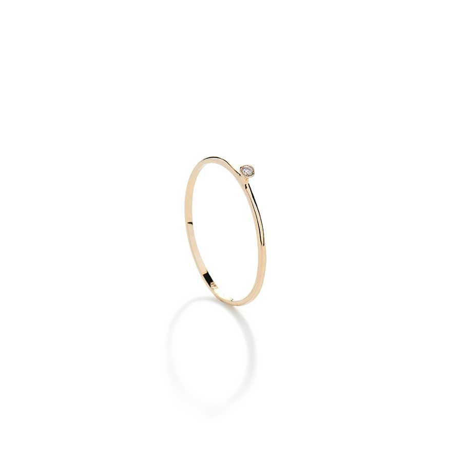 Christiana Kafa Small Thin White Diamond Ring CHK19.R.GW