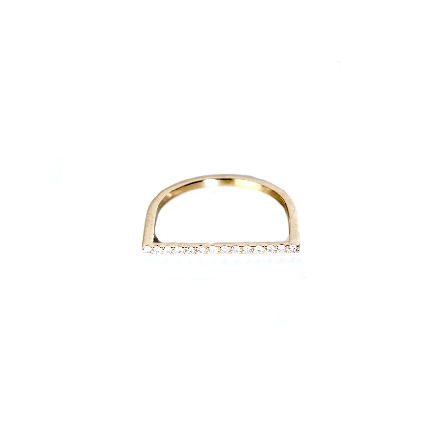 Christiana Kafa Half Circle White Diamonds Ring