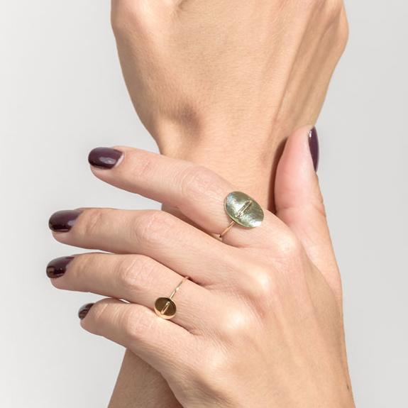 Christiana Kafa Oval Rings on model
