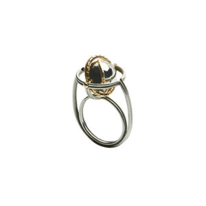 Elie Top Silver Diamond Mir Ring