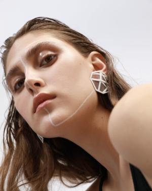 Missbach by Nadia OMFG Single Earring on model